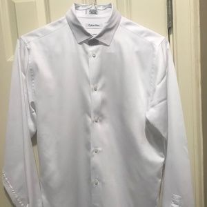 Calvin Klein Boy's White Dress Shirt - Size 20